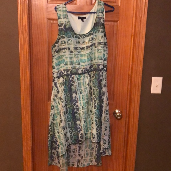 Mossimo Supply Co. Dresses & Skirts - Mossimo High-Low Teal Watercolor Dress